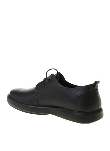 Cotton Bar Deri Topuklu Düz Bağcıklı Erkek Ayakkabı Siyah